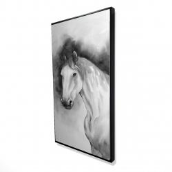 Framed 24 x 48 - 3D - Domino horse