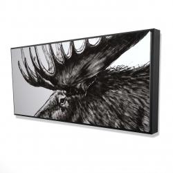 Framed 24 x 48 - 3D - Moose plume