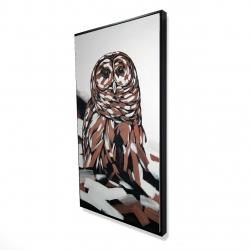 Framed 24 x 48 - 3D - Tawny owl