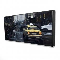 Framed 24 x 48 - 3D - New york in the dark