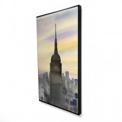 Framed 24 x 48 - 3D - Sunset over new york city