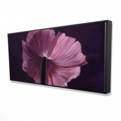 Framed 24 x 48 - 3D - Purple petals