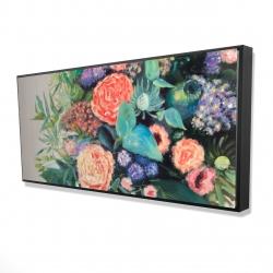 Framed 24 x 48 - 3D - Flowers melody
