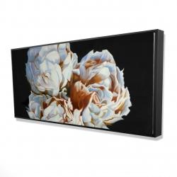 Framed 24 x 48 - 3D - Blooming peonies