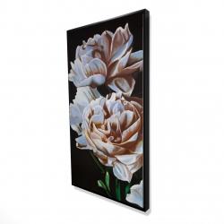 Framed 24 x 48 - 3D - Peonies