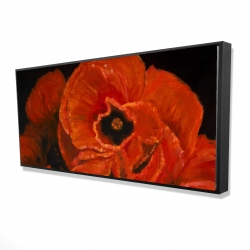 Framed 24 x 48 - 3D - Poppy bouquet