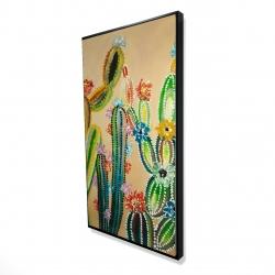 Framed 24 x 48 - 3D - Desert gems