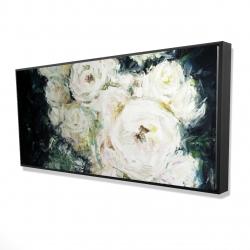 Framed 24 x 48 - 3D - Garden roses