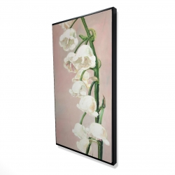 Framed 24 x 48 - 3D - Lily of the valley flowers