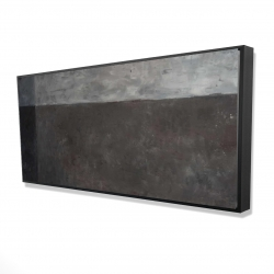 Framed 24 x 48 - 3D - Shades of gray