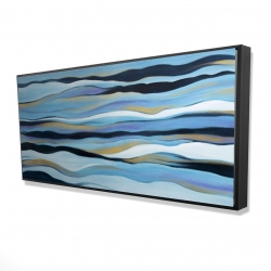 Framed 24 x 48 - 3D - Blue sweep