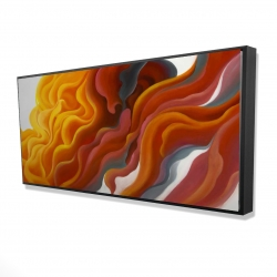 Framed 24 x 48 - 3D - Colorful smoke