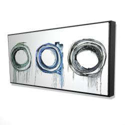 Framed 24 x 48 - 3D - Trio of circles