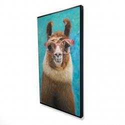 Framed 24 x 48 - 3D - Lovable llama