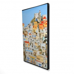Framed 24 x 48 - 3D - Small houses in greece