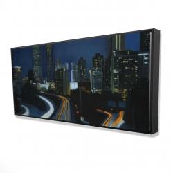 Framed 24 x 48 - 3D - Atlanta at night
