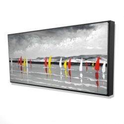 Framed 24 x 48 - 3D - Sailing on the lake