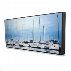Framed 24 x 48 - 3D - Boats at the dock