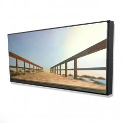 Framed 24 x 48 - 3D - Footbridge