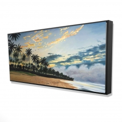 Framed 24 x 48 - 3D - Tropical summer moments