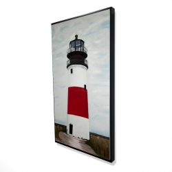 Framed 24 x 48 - 3D - Sankaty head lighthouse