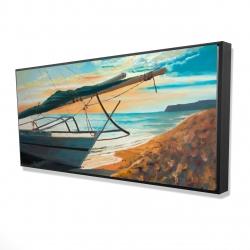 Framed 24 x 48 - 3D - Peaceful seaside