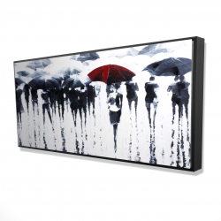 Framed 24 x 48 - 3D - Abstract silhouettes under the rain