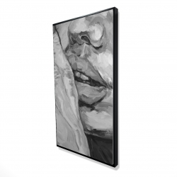 Framed 24 x 48 - 3D - Luscious lips