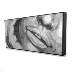 Framed 24 x 48 - 3D - Irresistible lips