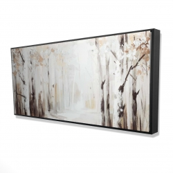 Framed 24 x 48 - 3D - Winter forest