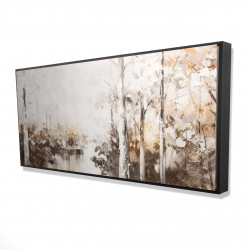 Framed 24 x 48 - 3D - Abstract white forest