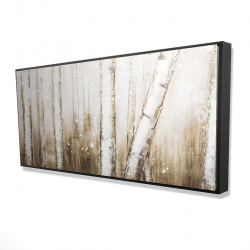 Framed 24 x 48 - 3D - Texturized abstract forest