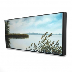 Framed 24 x 48 - 3D - Quiet lake