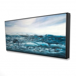 Framed 24 x 48 - 3D - Glaciers in iceland