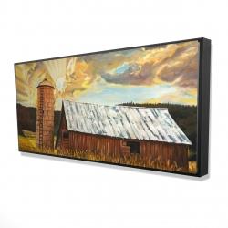 Framed 24 x 48 - 3D - Hay barn