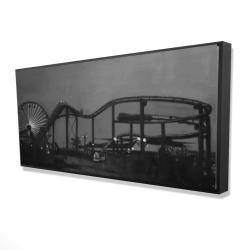 Framed 24 x 48 - 3D - Amusement park