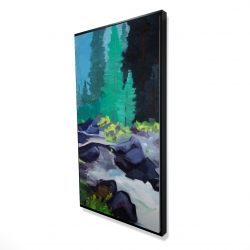 Framed 24 x 48 - 3D - Beautiful waterfall