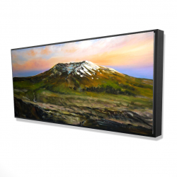 Framed 24 x 48 - 3D - Valley and mountains landscape