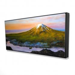 Framed 24 x 48 - 3D - Landscape mount fuji