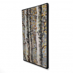 Framed 24 x 48 - 3D - Blossoming birches