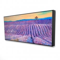 Framed 24 x 48 - 3D - Landscape of a field of lavender
