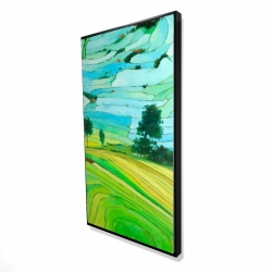 Framed 24 x 48 - 3D - Rice fields of vietnam