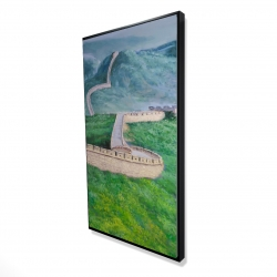 Framed 24 x 48 - 3D - Great wall of china