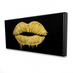 Framed 24 x 48 - 3D - Golden lips