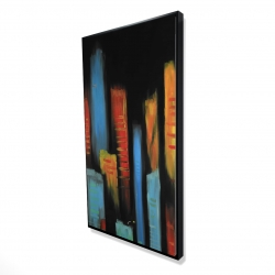 Framed 24 x 48 - 3D - Abstract and colorful tall buildings