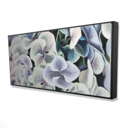 Framed 24 x 48 - 3D - Colorful hydrangea flowers