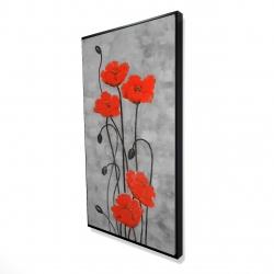 Framed 24 x 48 - 3D - Long stem flowers