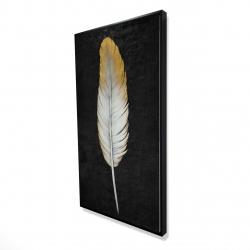 Framed 24 x 48 - 3D - Golden feather