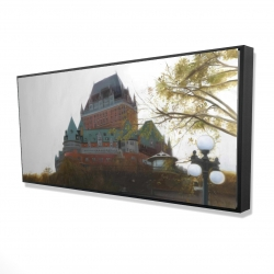 Framed 24 x 48 - 3D - Le château de frontenac in autumn