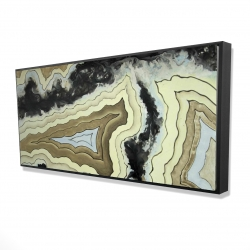 Framed 24 x 48 - 3D - Lace agate